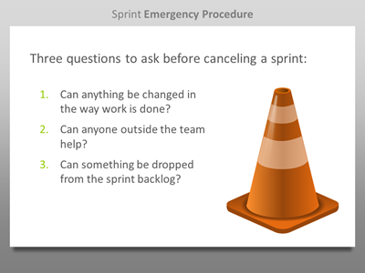 Sprint Emergency Procedure slide