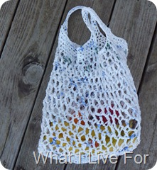 Crocheted Grocery Bag @ whatilivefor.net