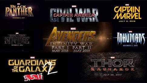 Fecha de estreno de las próximas películas de Marvel