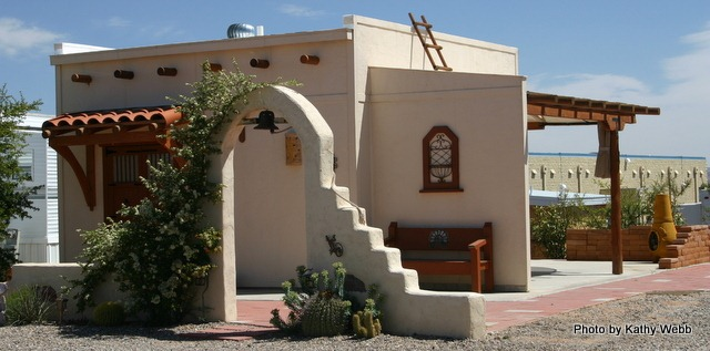 A really charming casita in the park, very Southwestern design