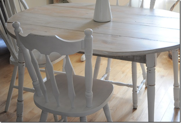 kitchen plank table with chairs