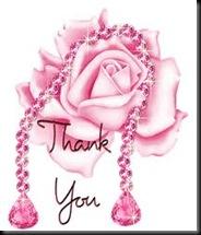 Thankyou pink rose
