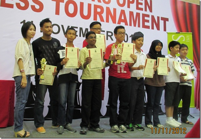 Top 10 winners of U-16 category Summit Jr Open 2012
