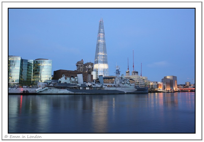 The Shard and HMS Belfast at Dawn