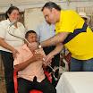 José Rivas recibió un bastón de parte de la dirigencia política de Centro Democrático
