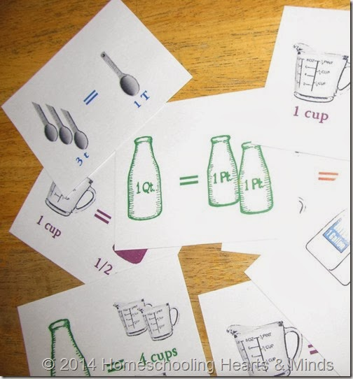 volume visual flashcards from Homeschooling Hearts & Minds