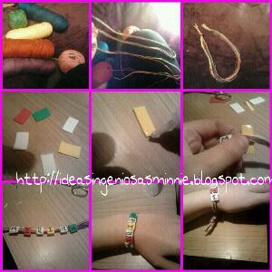 Mil manualidades crea tu propia pulsera con nombre de for Como hacer pulseras de goma eva