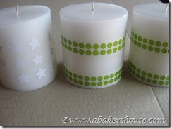 candles taped
