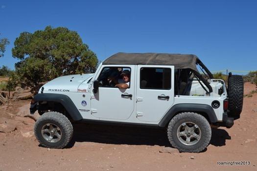 Having fun in the Jeep!