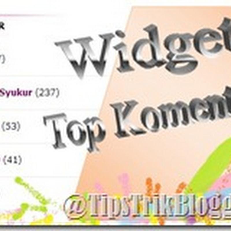 Widget Top Komentator Dengan Avatar
