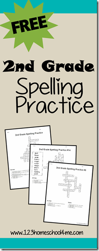 2nd grade spelling practice with printable crossword puzzles