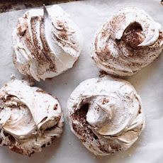 Chocolate and Cinnamon Swirl Meringues