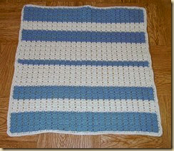 Ocean and off white afghan newborn