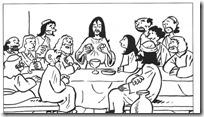 ultima cena jesus colorear (1)