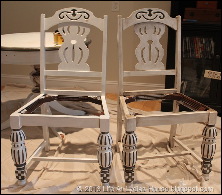 glaze vs not glazed chairs