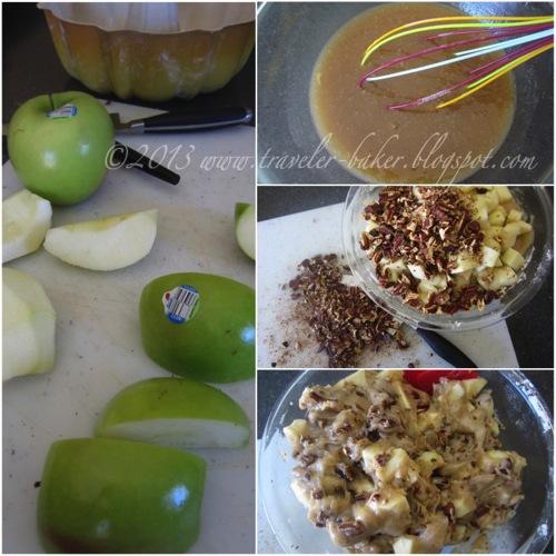Southern Apple Pecan Cake 1