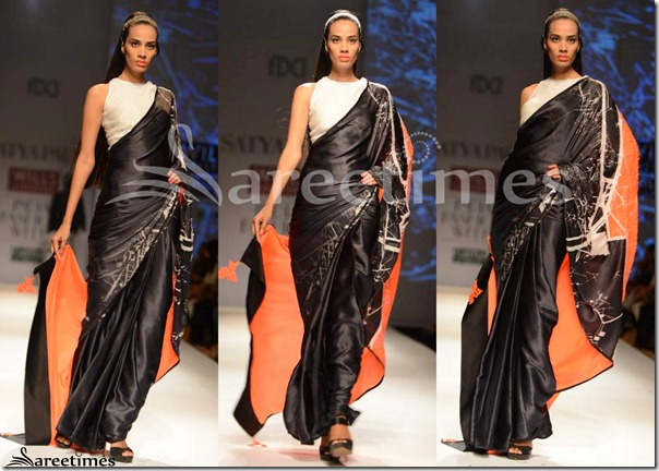 Satya_Paul_Black_Saree_with_Sleeveless_Blouse
