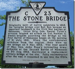 The Stone Bridge, Marker C-23 (Enlarge any photo to enlarge)