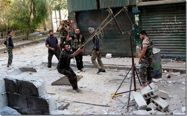 Lançador de granadas dos rebeldes sirios (2)