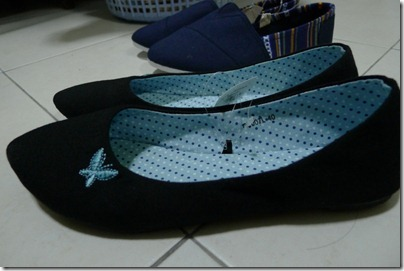 canvas butterfly flats