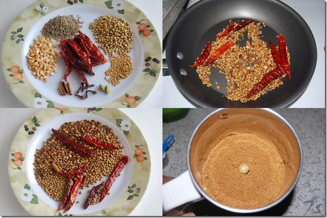 Bisi bele bhath powder process