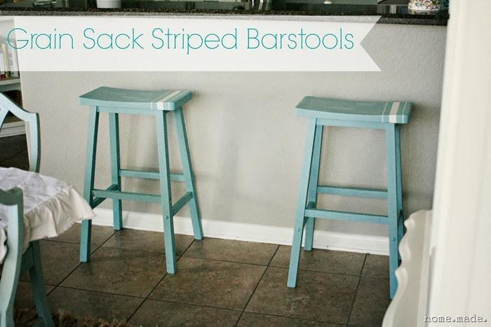 Grain Sack Barstools