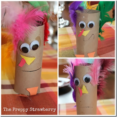 Preppy Strawberry Turkey Craft