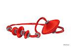 Nowoczesna obejma dekoracyjna do zasłon i tkanin z magnesem. Czerwona.