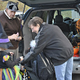 Gordon and Joyce Lambie hand out candy in the name of the Boyne Valley Lions Club