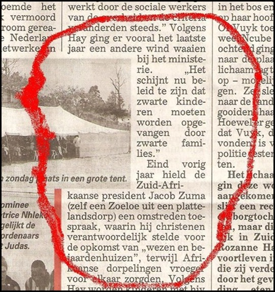 VUYK TELEGRAAF COMMENTAAR OVER ZUMA