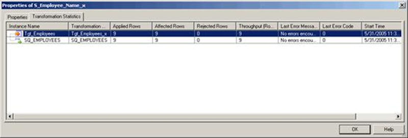 Informatica PowerCenter Workflow Monitor