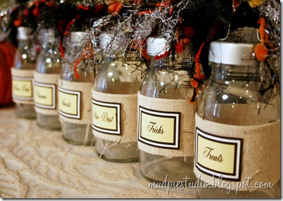 Halloween Apothecary Bottles by mudpiestudio.blogspot.com