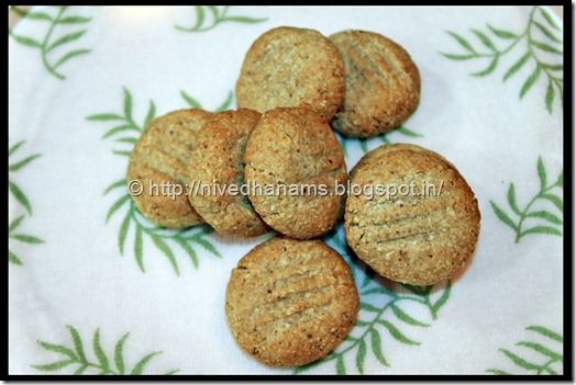 Oats Almonds Cookies  - IMG_3363