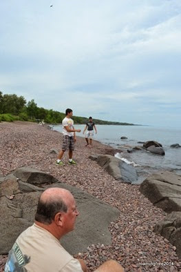 On the northern shore of Lake Superior