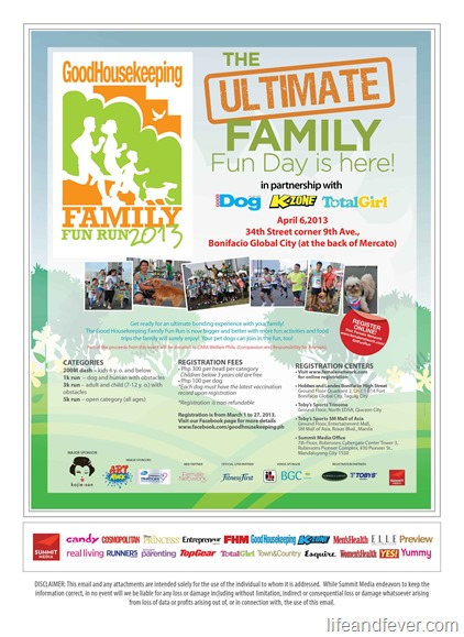 good housekeeping family fun run