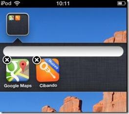 Cartella senza nome su iPhone, iPad, iPod