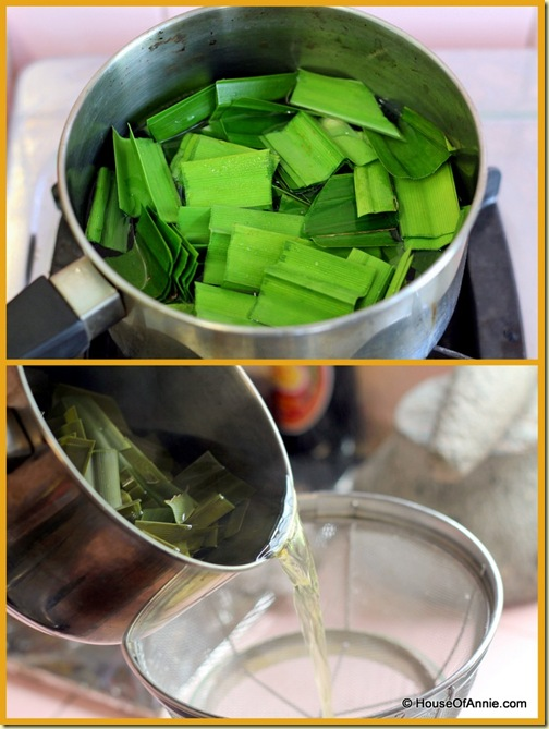 Making Pandan Water