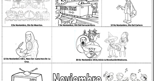 TE CUENTO UN CUENTO: Efemérides de noviembre para colorear