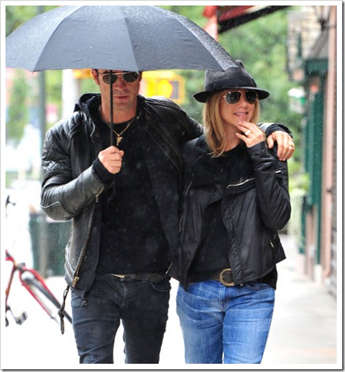 Jennifer Anistone and Justin Theroux
