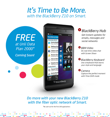 Smart BlackBerry Z10 Philippines