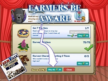 Careful what you click on Farmville quests