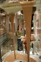 Kristy and the giant chocolate fountain