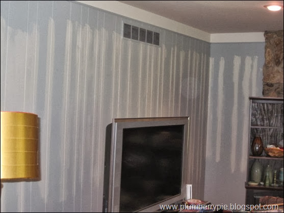 painting paneling - plumberry pie