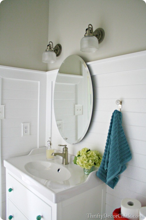 Sconces in bathroom