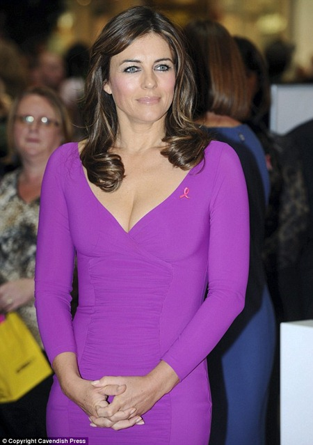 Legendary Beauty Liz Hurley at her Breast Cancer Awareness campaign