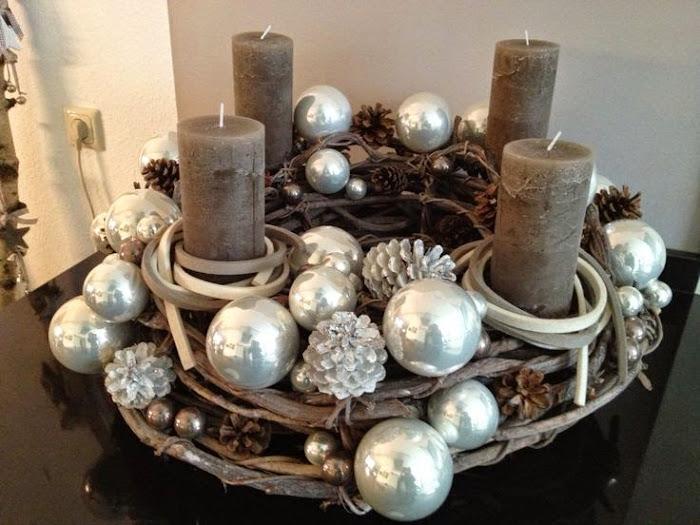 Adventskrans de wemelaer - Weihnachtsdeko hangend ...