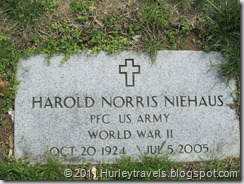 Harold Norris Niehaus, veteran of WW II, Nancy's uncle