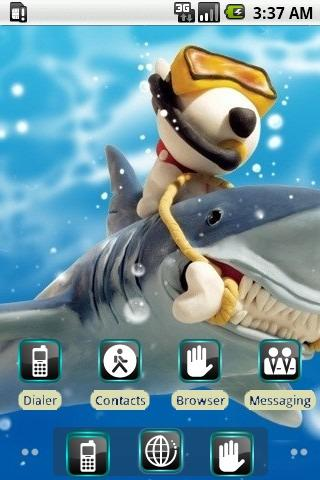 Monk Feeds Shark [SQTheme] ADW