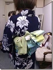 帯遊び 浴衣ファッションショーのお手伝い (2)