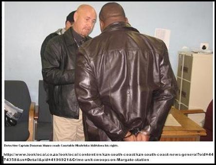 POLICE corruption MARGATE four bl. cops arrested by PtShepstoneCrimeUnit_for serious crimes
